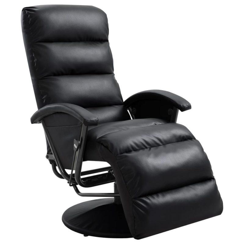 vidaXL Leunstoel kunstleer zwart