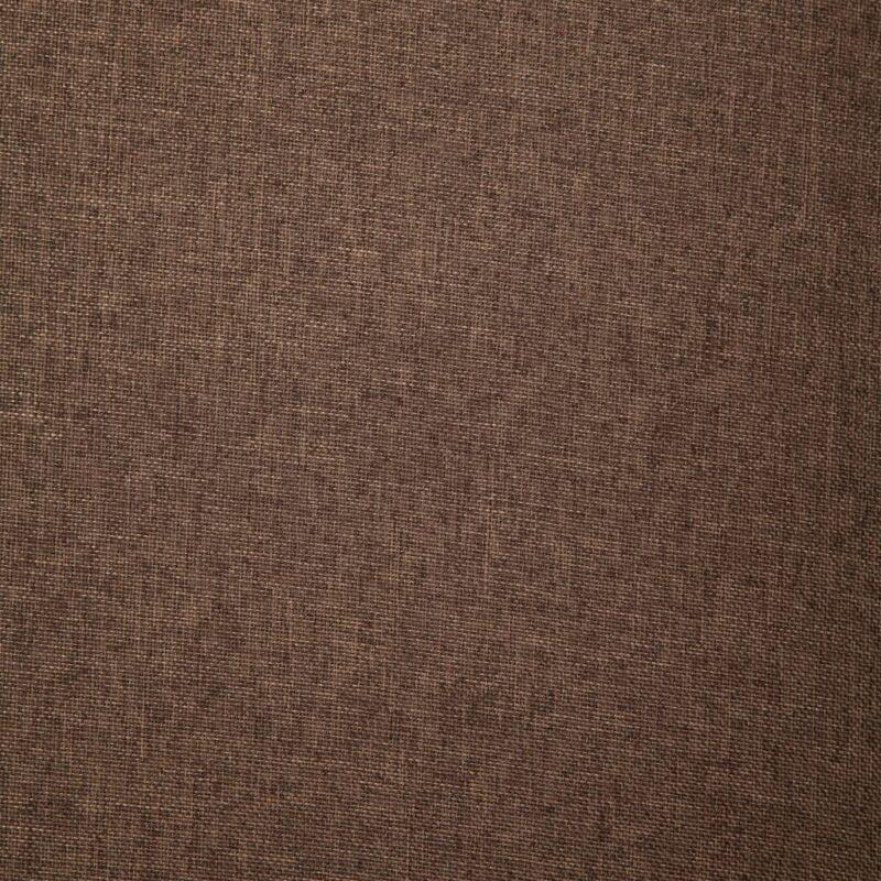 Fauteuil met kussen stof bruin
