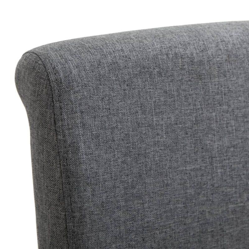 Eetkamerstoelen 4 st stof grijs