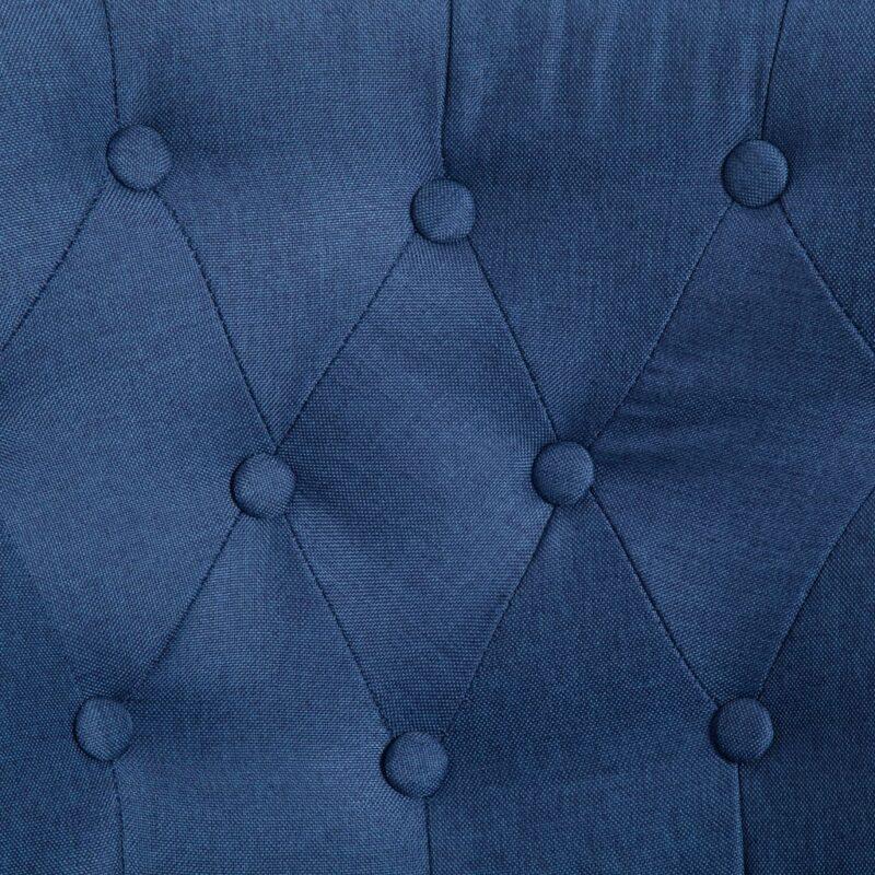Franse stoel stof blauw