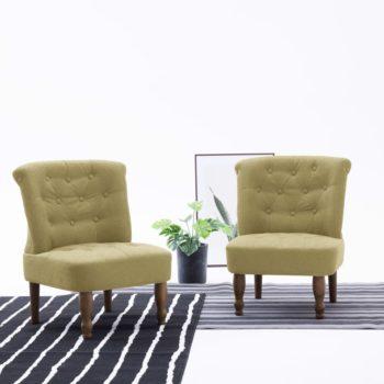 vidaXL Franse stoel stof groen