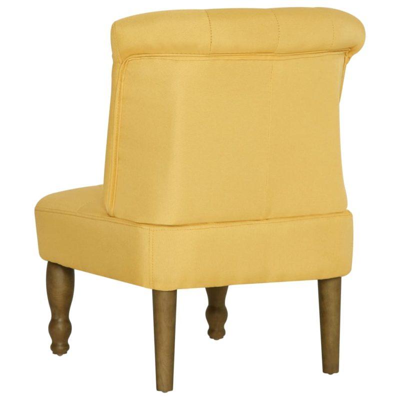 vidaXL Franse stoel stof geel