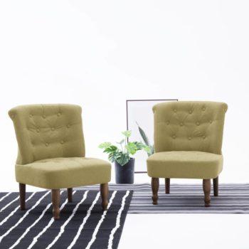 vidaXL Franse stoelen 2 st stof groen