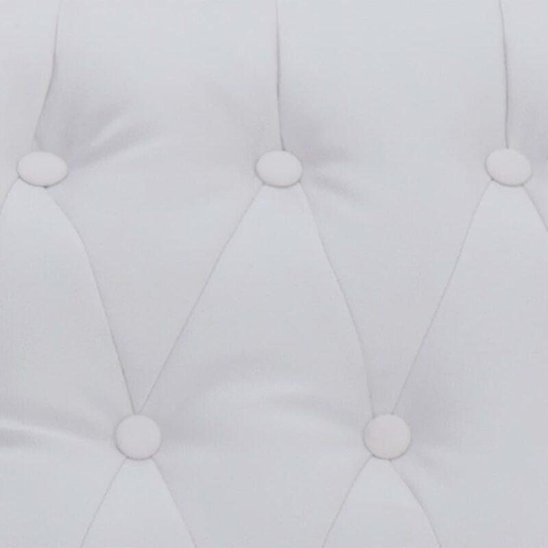 Stoel verstelbaar kunstleer wit