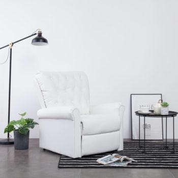 vidaXL Stoel verstelbaar kunstleer wit