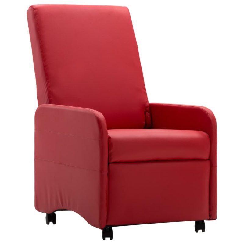 vidaXL Fauteuil verstelbaar kunstleer rood