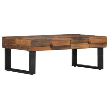vidaXL Salontafel 110x60x40 cm massief gerecycled hout