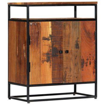 vidaXL Bijzetkast 60x35x76 cm massief gerecycled hout en staal