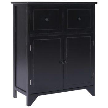 vidaXL Bijzetkast 60x30x75 cm paulowniahout zwart