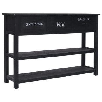 vidaXL Dressoir 115x30x76 cm hout zwart