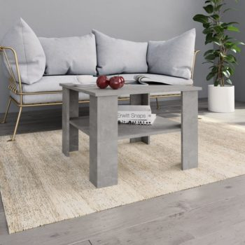 vidaXL Salontafel 60x60x42 cm spaanplaat betongrijs