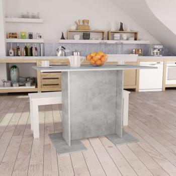 vidaXL Eettafel 110x60x75 cm spaanplaat betongrijs