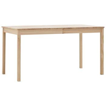 vidaXL Eettafel 140x70x73 cm grenenhout
