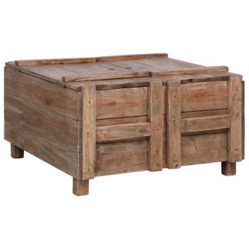 vidaXL Salontafel 65x65x38 cm massief gerecycled hout