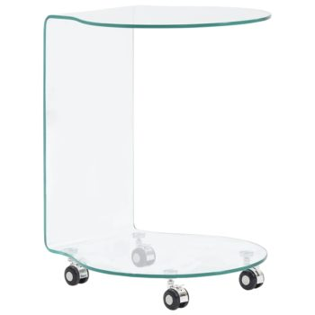 vidaXL Salontafel 45x40x58 cm gehard glas