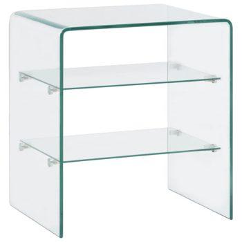 vidaXL Salontafel 50x40x56 cm gehard glas