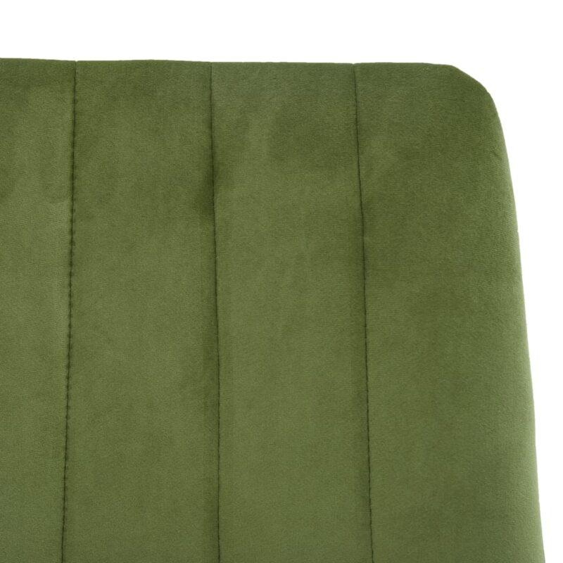 Eetkamerstoelen 2 st fluweel groen