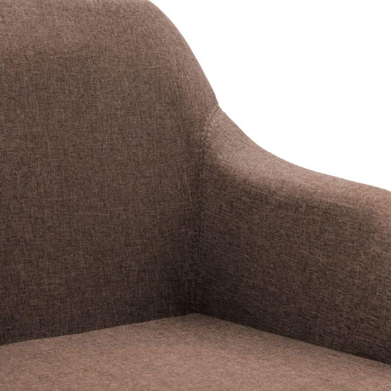 Eetkamerstoelen draaibaar 6 st stof bruin