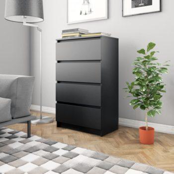 vidaXL Dressoir 60x35x98,5 cm spaanplaat zwart