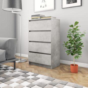 vidaXL Dressoir 60x35x98,5 cm spaanplaat betongrijs