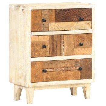 vidaXL Bijzetkast 60x30x75 cm massief gerecycled hout