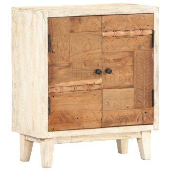 vidaXL Bijzetkast 60x30x70 cm massief gerecycled hout