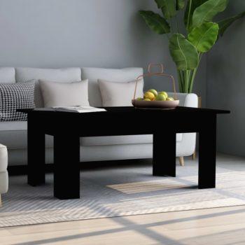 vidaXL Salontafel 100x60x42 cm spaanplaat zwart
