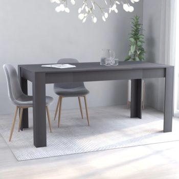 vidaXL Eettafel 160x80x76 cm spaanplaat grijs