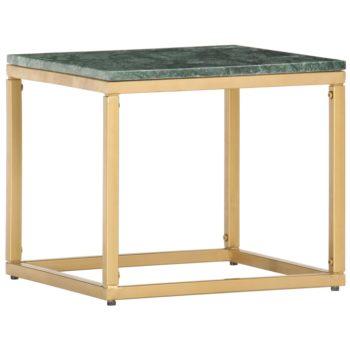 vidaXL Salontafel 40x40x35 cm echt steen met marmeren textuur groen