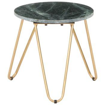 vidaXL Salontafel 40x40x40 cm echt steen met marmeren textuur groen