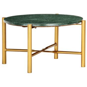 vidaXL Salontafel 60x60x35 cm echt steen met marmeren textuur groen
