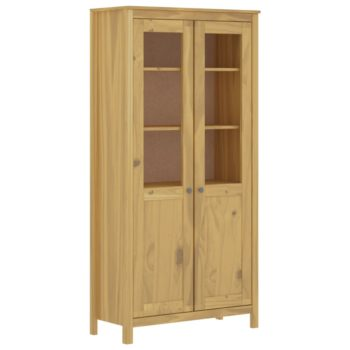 vidaXL Hoge kast Hill Range 85x37x170,5 cm grenenhout honingbruin
