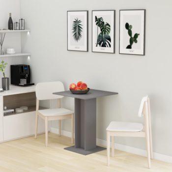 vidaXL Bistrotafel 60x60x75 cm spaanplaat grijs