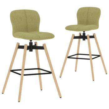 vidaXL Barstoelen draaibaar 2 st stof groen