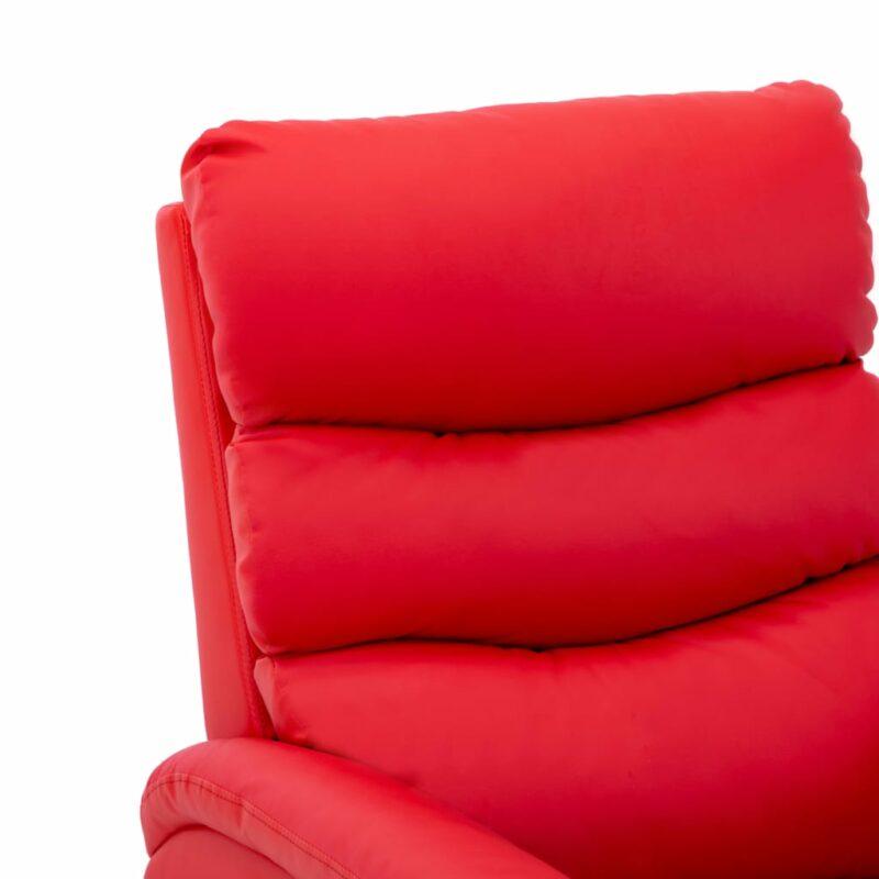 Stoel verstelbaar kunstleer rood
