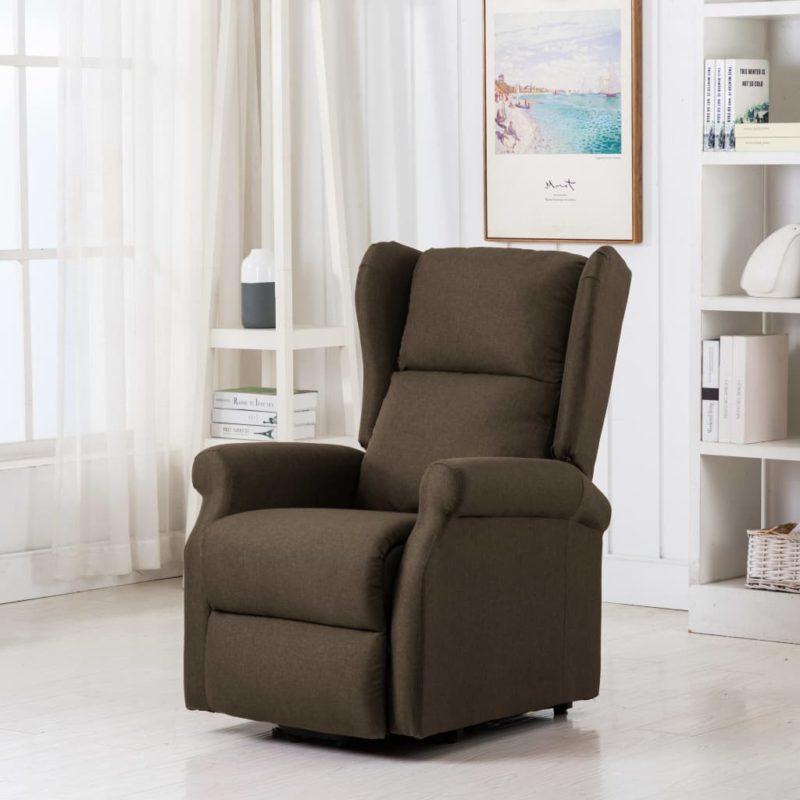 vidaXL Sta-op-stoel stof bruin
