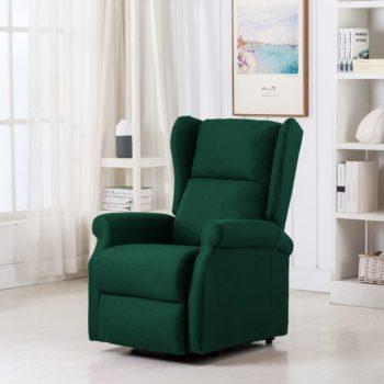 vidaXL Sta-op-stoel stof donkergroen