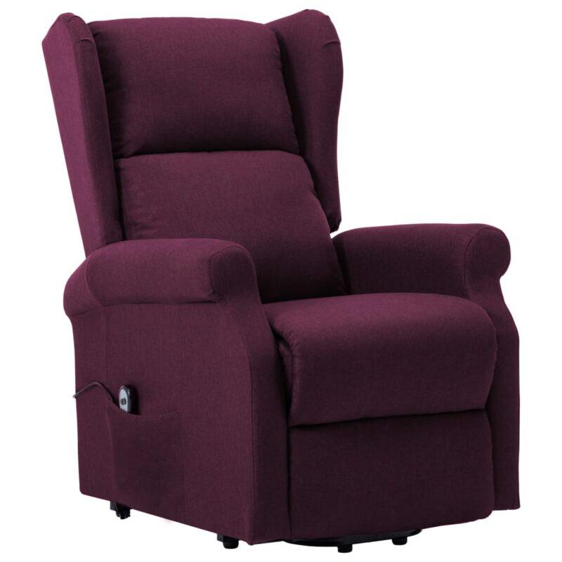 Sta-op-stoel stof paars