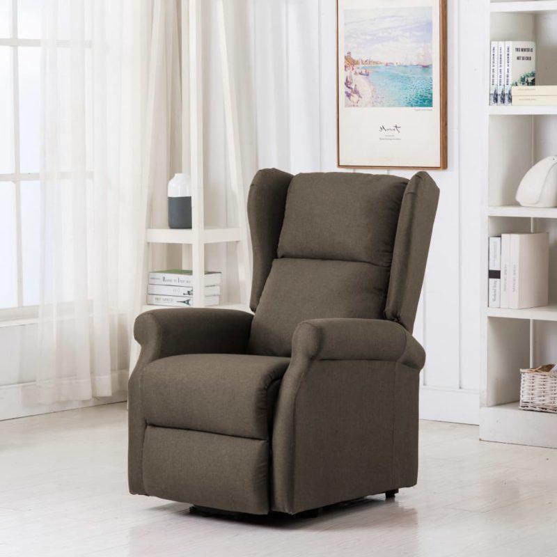 vidaXL Sta-op-stoel stof taupe