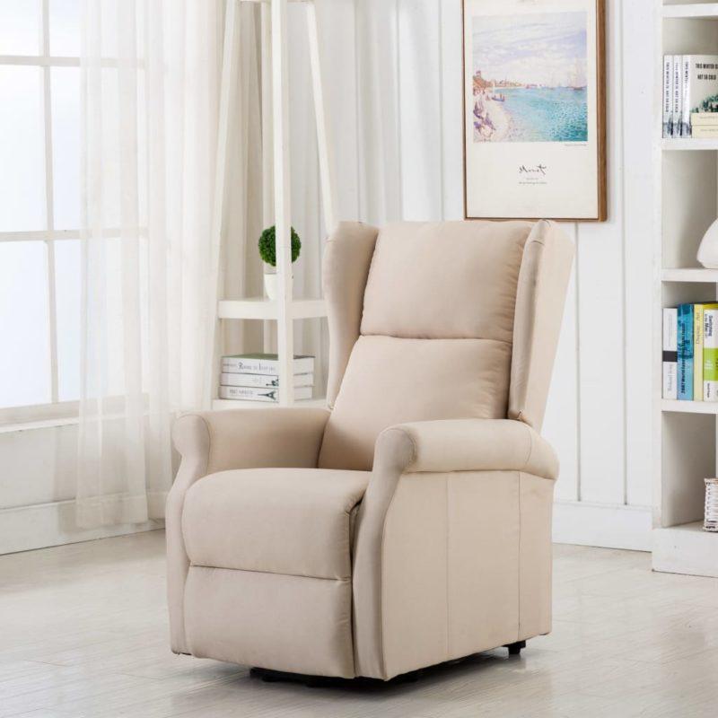 vidaXL Sta-op-stoel stof crème