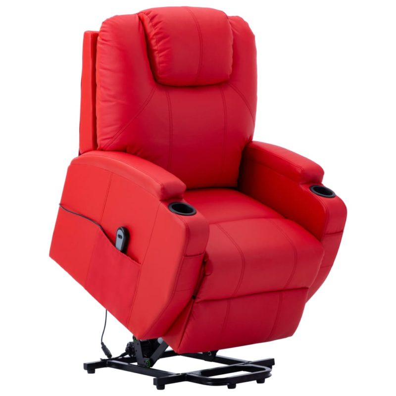 vidaXL Sta-op-stoel kunstleer rood