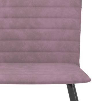 vidaXL Eetkamerstoelen 6 st fluweel roze