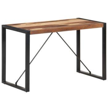 vidaXL Eettafel 120x60x75 cm massief hout met sheesham afwerking
