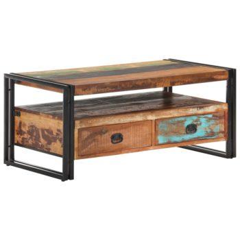 vidaXL Salontafel 100x55x45 cm massief gerecycled hout