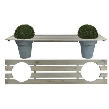 Esschert Design Bank met plantenbakken 180 cm NG71