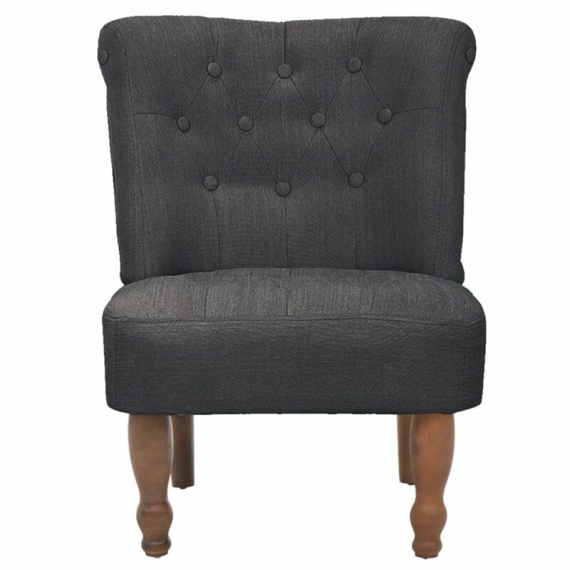 Franse stoel stof grijs