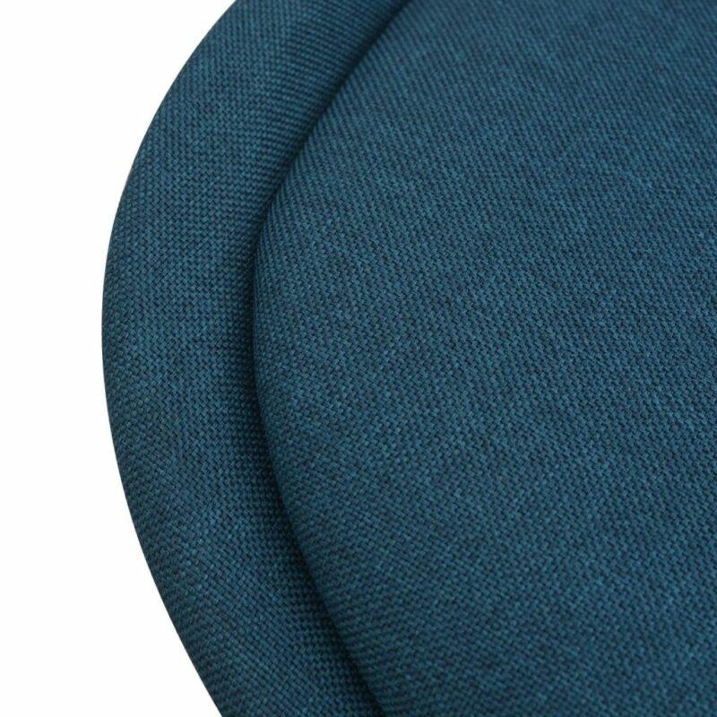 Eetkamerstoelen 2 st stof blauw