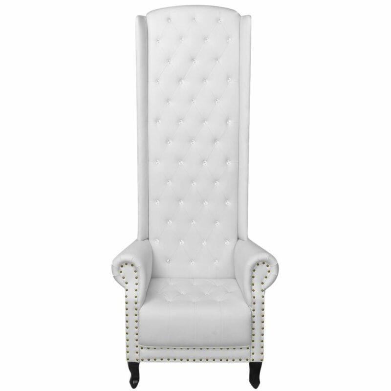 Hoge fauteuil wit 77x65x181 cm