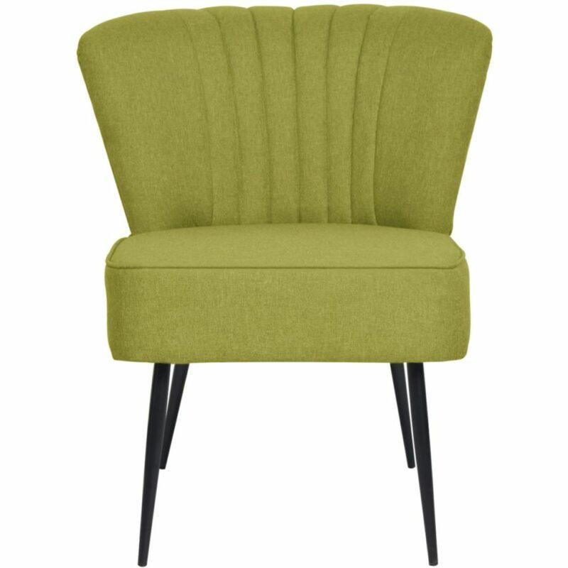 Cocktailstoel stof groen