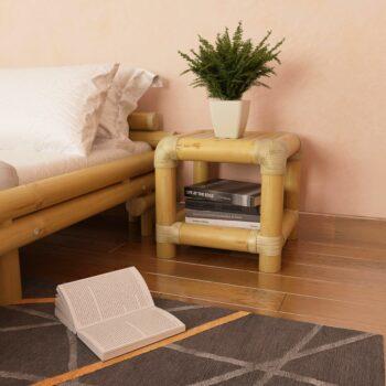 vidaXL Nachtkastje 40x40x40 cm bamboe natuurlijk